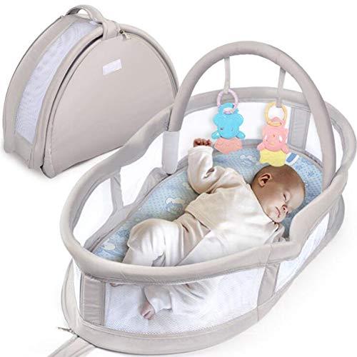XJJUN Bionisches Bett Handtasche Reise Bequemlichkeit Faltbar Waschbar Baumwolle Gemütlich Formaldehyd Frei Geruchlos (Color : Gray, Size : 80x18x43cm) -