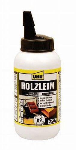 uhu-48570-holzleim-ohne-losungsmittel-classic-250-g-flasche-weiss-transparent