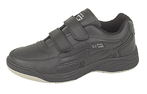 Mens Wide Fitting Twin Velcro Strep Trainers (13, Black)