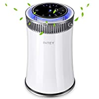INTEY 5 Speed Air purifier with 25dB HEPA & Active Carbon Filters, Purifier with 4 Time Function and Night Light, PM Eliminator Cleaner for Home and Office[Energy Class A+]