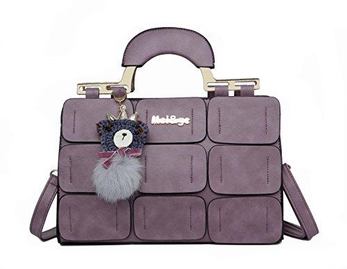 Pahajim , Damen Umhängetasche violett violett (Hardware Gold-getönten)