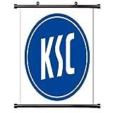 Karlsruher SC Futbal Club Bundesliga League Fabric Wall