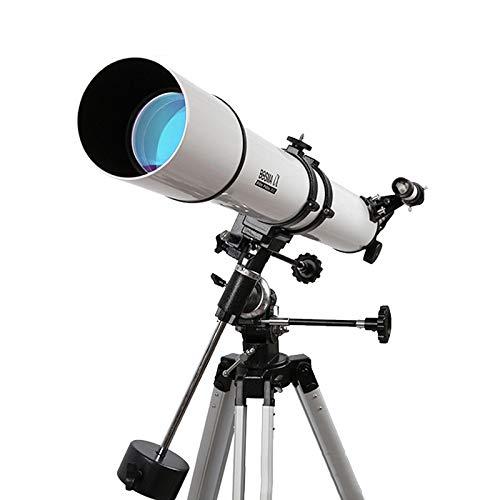 WMC Telescopio Refractor Espacial astronómico, telescopio de Gran diámetro HD para Principiantes de astronomía, niños y Adultos