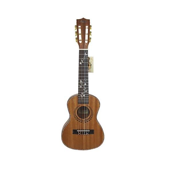 "HJUNS 28 ""Guitalele Guitarlele Guilele Travel Guitar Solid Cedar Tastiera in Palissandro Ponte Strumento a Corde con lo spago libero e borsa"