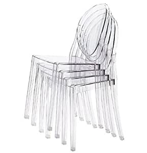 Generic Polycarbonate Clear Dining Chair Brand New Boxed Transparent (4pcs)