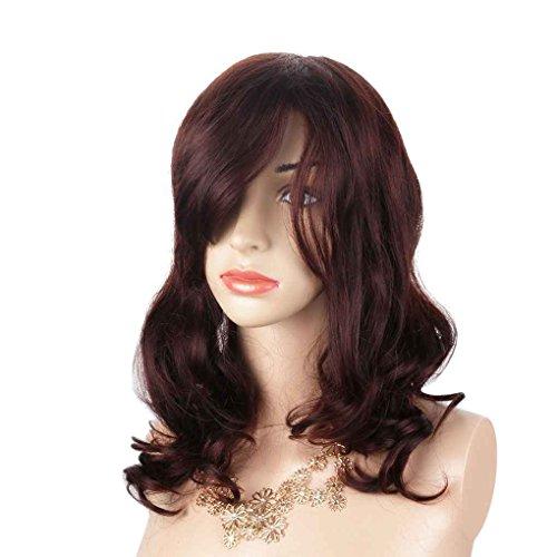 Babysbreath Frauen Real Hair Lockige Welle Perücke maschinengewebte handgewebte Haar Top Perücke (Top Perücken Kostüm Qualität)