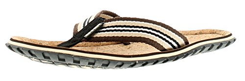 e1570fb2d777 Sinner New Mens Gents Cork Brown Beach Slaps Toe Post Sandals - Cork Brown  - UK Size 11