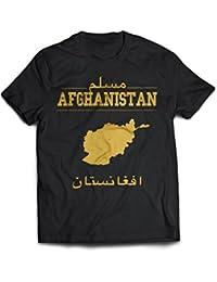 Afghanistan Muslim T-Shirt   Islamisches T-Shirt in Gold und schwarz mit  arabischer Schrift Bedruckt Islamische Kleidung… d87ec8e93b