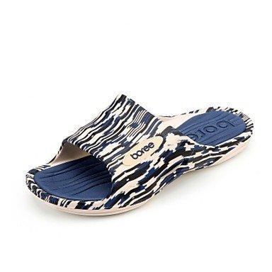 Slippers & amp da uomo;Primavera Estate Comfort PVC casuali piani del tallone sandali navy verde caffè sandali US11 / EU44 / UK10 / CN46