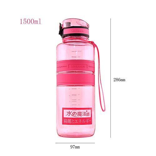Yvonnelee Tritan Trinkflasche Wasserflasche für Damen, Herren und Kinder Outdoor Camping Wandern Flasche Auslaufsicher BPA Frei Rosa