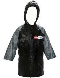 Star Wars Lego Boy's Black and Grey Rain Slicker