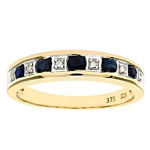 Naava Damen-Ring 375 Gelbgold Diamant 9 Karat Gr. 47 (15.0) PR3353L