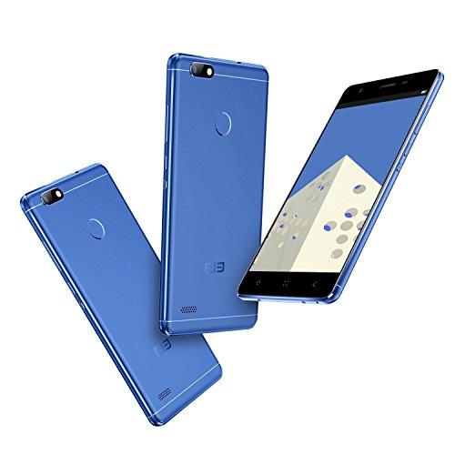 Elephone C1 Mini 4G Smartphone Ohne Vertrag 5.0 Zoll FHD Android 6.0 Full Metal Rahmen MediaTek MT6737 Quad Core 1GB RAM+16GB ROM 8.5mm Dicke Fingerabdruck-Sensor(Blau)