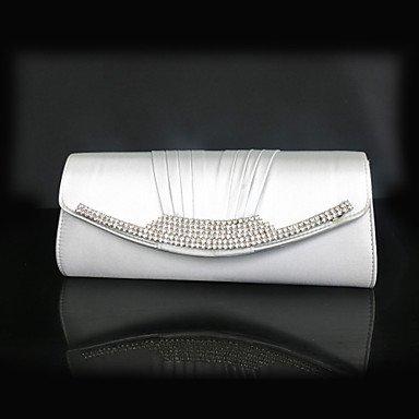 pwne L. In West Frauen'S Mode Seide Fach Diamond Abendessen Tasche White