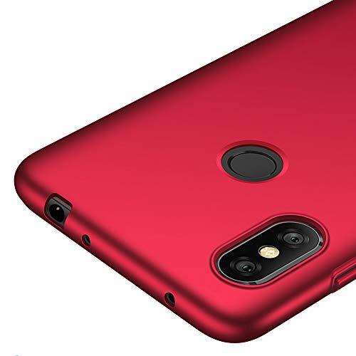 """Richgle Funda Xiaomi Redmi Note 6 Pro (6.26""""), Rojo Ultra Slim Protectora Funda Case Plástico Duro Cover para Xiaomi Redmi Note 6 Pro (6.26"""") RG00222"""