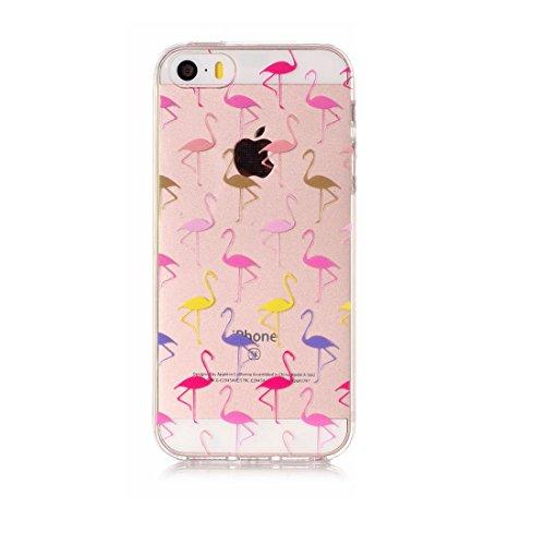 iPhone 5 Custodia, Cartoon Margherite - TPU Silicone Trasparente Nuovo Gel Soft Case iPhone 5 SE 5S 5G Custodia durevole Cartoon Cover, Prova di scossa anti-graffio # # 8