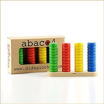 Dida - Abaque en bois - Jeu pour le calcul mathématique abacus vertical 4