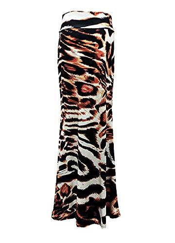 Novias Boutique - Falda - Trapecio o Corte en A - para Mujer Leopardo 36