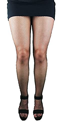 LADIES BLACK FISHNET TIGHTS ADULT SIZE EVERYDAY TIGHTS SEXY FANCY DRESS