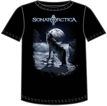 Sonata Arctica - Howling Wolf Adult T-Shirt In Black, X-Large, Black