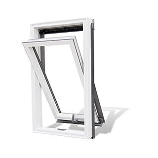 Aktion! Dachfenster Rooflite Duro 78x118 Schwingfenster aus Kunststoff mit Eindeckrahmen VKR-Gruppe wie Velux KOSTENLOSER VERSAND
