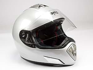 bno HF 180Argent Casque de moto, casque intégral, casque dans la taille L