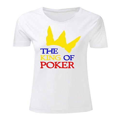 Art T-shirt, Maglietta The King of Poker, Donna Bianco