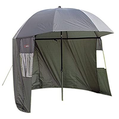 Ultra Fishing Angling 2.2m Umbrella w/ Zip Sides Windows Brolly from Ultra
