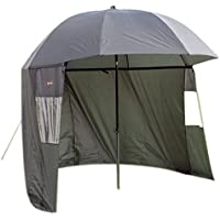 Ultra Fishing Angling 2.2m Umbrella w/Zip Sides Windows Brolly