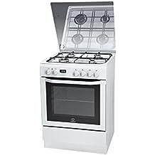 Indesit I6GMH6AG(W)/U Independiente Encimera de gas Blanco - Cocina (Cocina independiente, Blanco, Giratorio, Frente, LCD, Encimera de gas)
