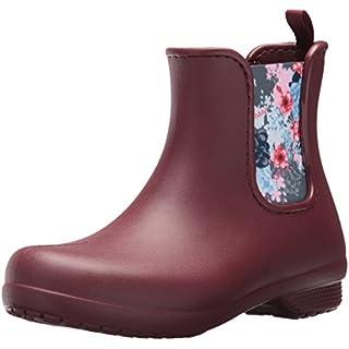 crocs Freesail Chelsea Boot Women, Damen Gummistiefel, Braun (Garnet), 41/42 EU