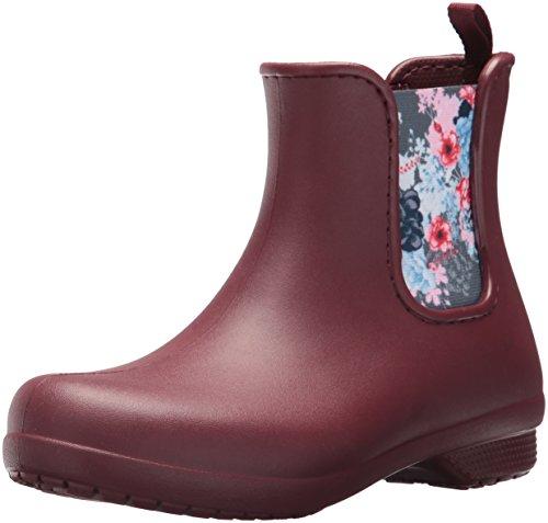 Crocs Freesail Chelsea Boot Women, Damen Gummistiefel, Braun (Garnet), 38/39 EU