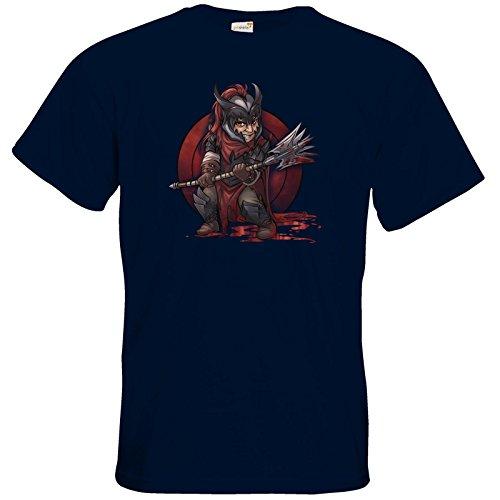 getshirts - Das Schwarze Auge - T-Shirt - Götter - Kor - Chibi Navy