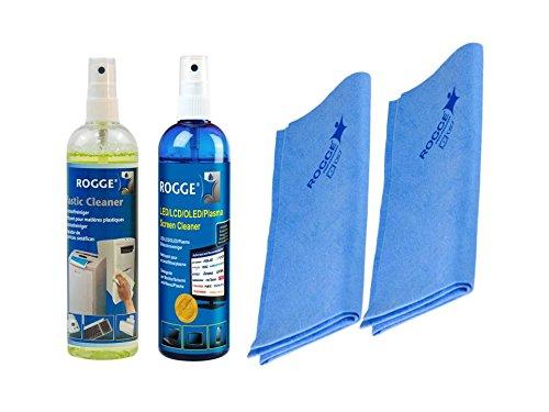 ROGGE Reinigungsset ROGGE DUO-Clean + Kunststoff/Tastaturreinigung inkl. 2x ROGGE Prof. Microfsertücher Touch-screen-plasma