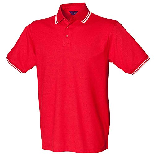 HenburyHerren Langarmshirt Red/White