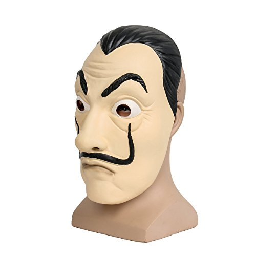 comprare on line Salvador Face Mask Latex Mask LCDP Realistic Movie Prop Face Mask Beard Mask prezzo