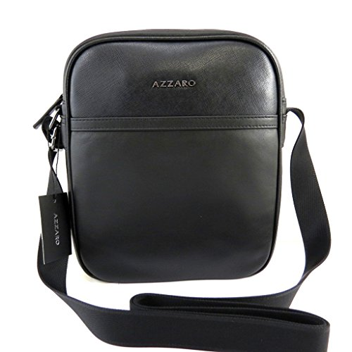 Azzaro [M0456] - Porté-croisé cuir 'Azzaro' noir