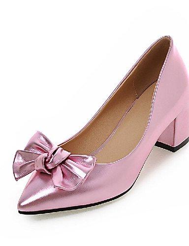 WSS 2016 Chaussures Femme-Extérieure / Bureau & Travail / Décontracté-Noir / Rose / Rouge / Argent-Gros Talon-Talons-Chaussures à Talons- black-us4-4.5 / eu34 / uk2-2.5 / cn33