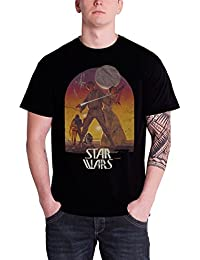 Star Wars - T-Shirt Sunset Poster (in L)