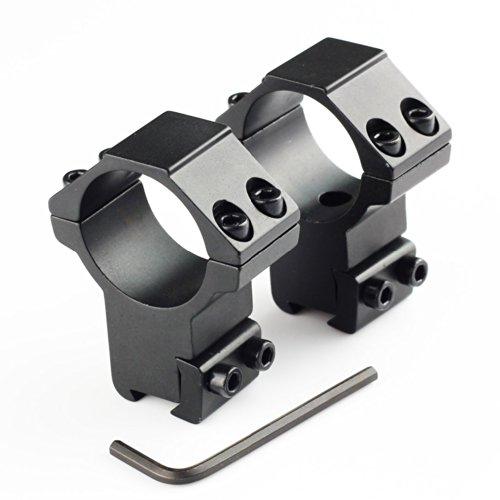 VERY100 Stück Montage Ring 30mm Durchmesserauf 11mm Picatinny/Weaver Schiene, 22mm Sattelhöhe, (Stück Zielfernrohrmontagen Einem)