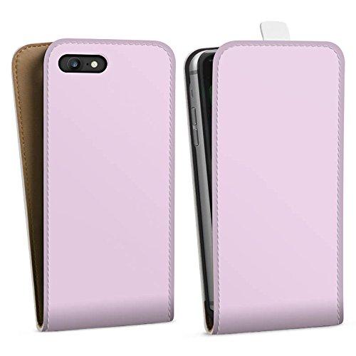 Apple iPhone X Silikon Hülle Case Schutzhülle Flieder helleres Violett Lila Downflip Tasche weiß