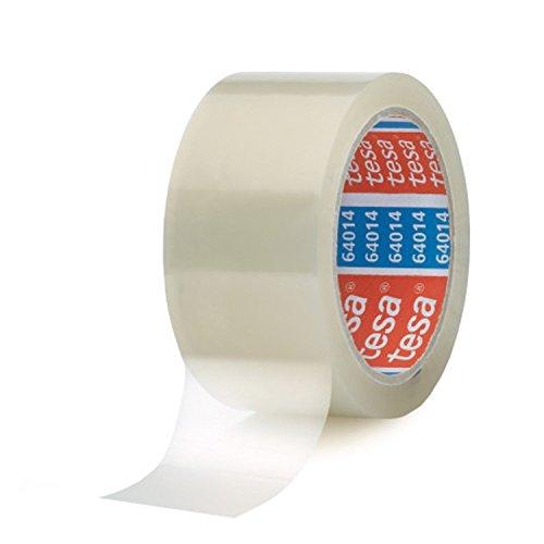 tesa 64014 Klebeband / Paketband 66 m x 50mm (6 Rollen, farblos) (6 Klebeband X)