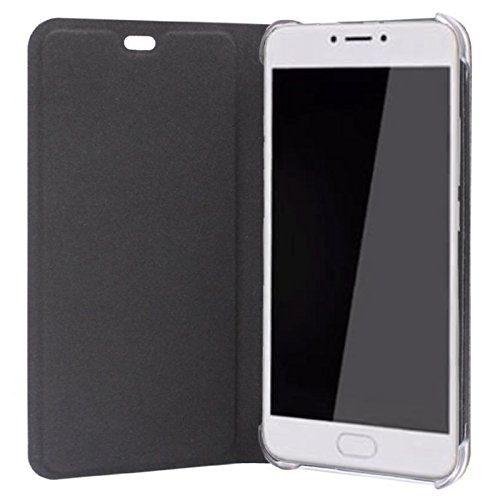 Sdo&Trade; Textured Leather Flip Cover For Yu Yunicorn (Black)