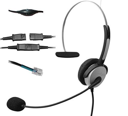 Voistek Monoo-Kopfhörer, mit Mikrofon und Schnelltrennung, für Avaya Nortel Polycom NEC GE Office Festnetz-Telefone (H10PA10) - Nortel Ip Pbx