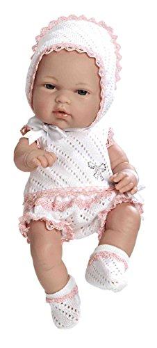 ARIAS - Muñeca bebé Natal, con Elementos Swarovski, Color Rosa, 33 cm (90102)
