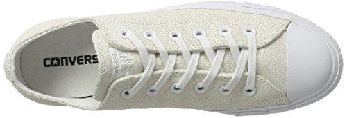 Converse Damen Schuh Chuck Taylor Ox Schlangenhautmuster Silber/Weiß Ecru