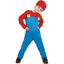 Disfraz de maquinista de tren Mario para niño - 4-6 años