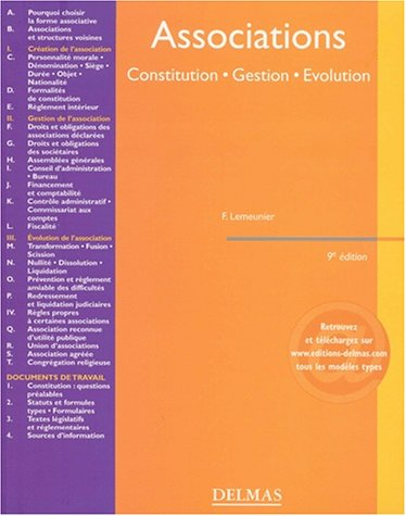 Associations : Constitution - Gestion - Evolution