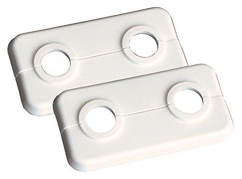 Sanitop-Wingenroth 27498 2 Doppel 12 mm oder 1/8 Zoll | 2er-Set | Rosette | Klapprosette | Weiß, Stück