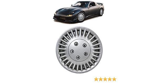 Carparts Online 28760 Radkappen Radzierblenden Für Stahlfelgen Set Tenzo R Vi 14 Zoll Silber Auto